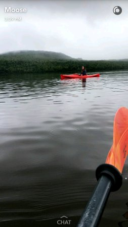 Parlin Pond, ME: My daughter kayaking, Lake Parlin