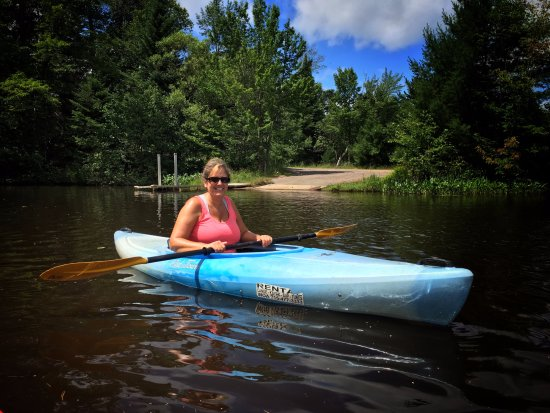 Eagle River, WI: first adventure in a kayak... I'm hooked!
