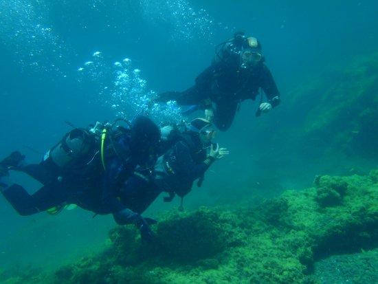 Blue Explorers Tenerife : Unter Wasser - Gewöhnen an den Druck und das Atmen
