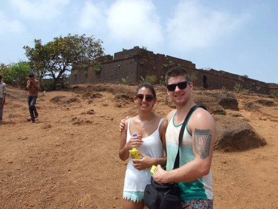 Outside the Chapora Fort