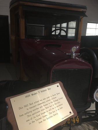 Santa Ynez Valley Historical Museum and Janeway-Parks Carriage House: 1925 Model T school bus, one of the few motorized cars in the Carriage House