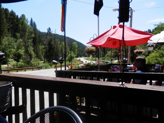 Lead, SD: View from outside dinning.