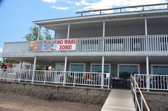 Wabasha, MN: lower level outside deck, top deck for private parties