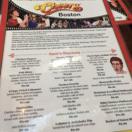 our menus
