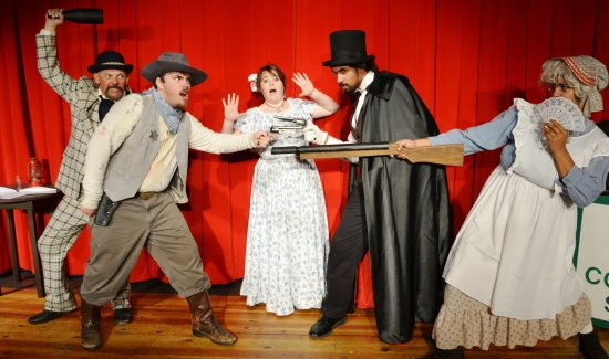 Melodrama Fiasco at the Golden Chain Theatre in Oakhurst, California.