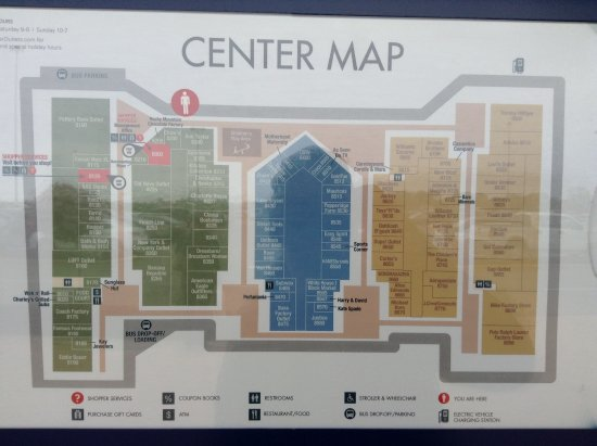 Center Map Picture of Tanger Outlet Jeffersonville TripAdvisor