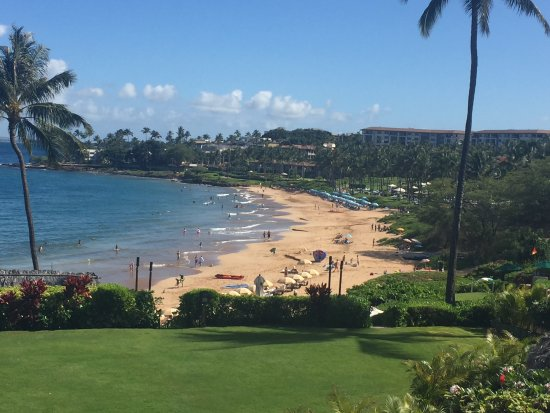 Four Seasons Resort Maui at Wailea: View of beach and hotel grounds from adults-only Serenity Pool