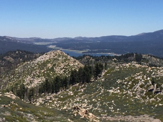 Big Bear Lake, CA: View from Butler Fire Lookout