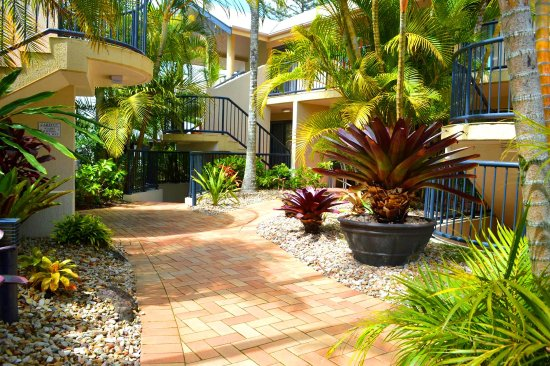Outrigger Bay Apartments: Landscaped gardens