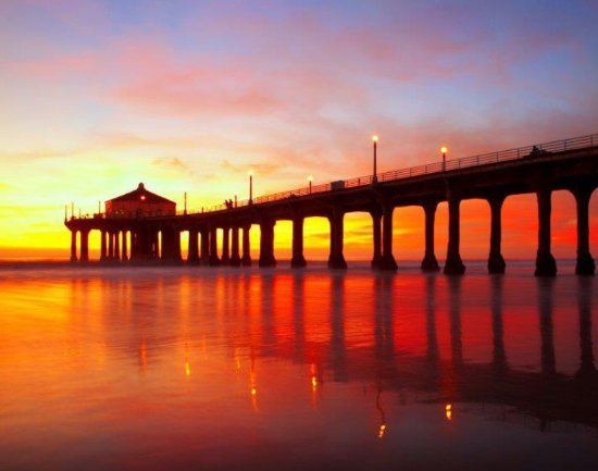 The Beauty Of Sunset At The Pier Picture Of Manhattan Beach Pier