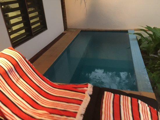 Vale Vale Beachfront Villas: Our own plunge pools