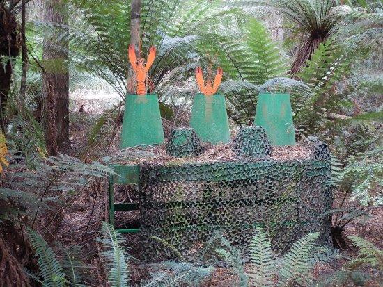 Smithton, Australia: Artwork in the forest