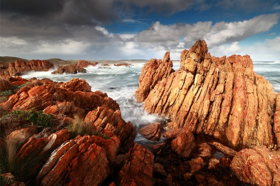 Arthur River, Australia: Spectacular rock formation covered in natural lichen at the Edge of the World