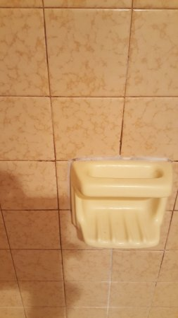 Gold Beach, OR: Dirty grout in the shower