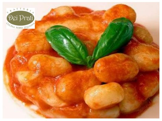 Trattoria dei Prati: Gnocchi al pomodoro hechos en casa