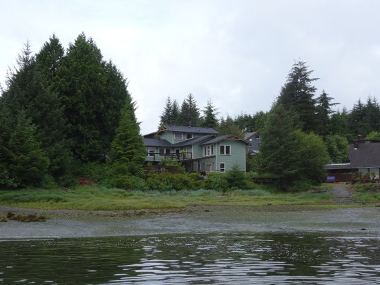 Majestic Ocean Bed and Breakfast: Looking back at the B & B from the water