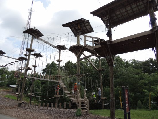 Petersburg, KY: The above ground obstacle course at the Creation Museum.