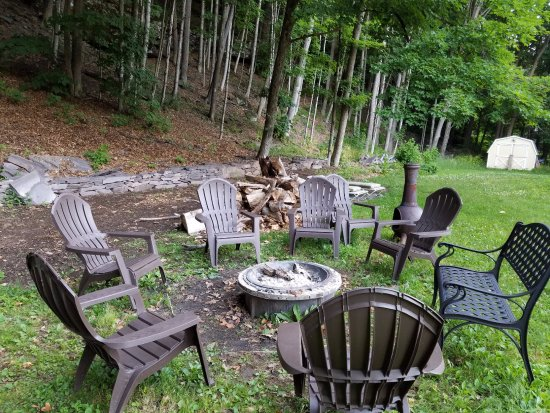 Big Indian, NY: The firepit - aka Marshmallow roasting station!