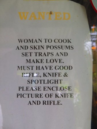 The Bushmans Centre: Wife wanted.