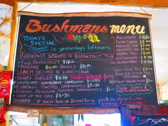 The Bushmans Centre: Bushman's eats.