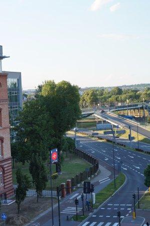 """Apartamenty TWW Centrum: Вид  из окна (в сторону """"кольцевой"""")"""