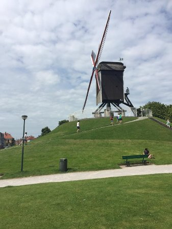 Top turning wind mill for flour.