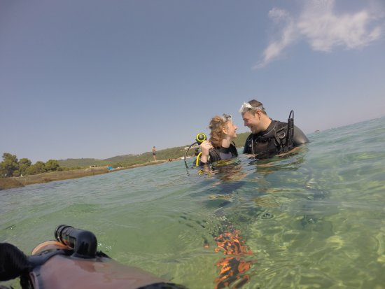 Skiathos Diving Center: Taken by our instructor on her GoPro!