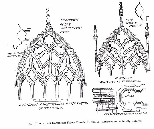 County Roscommon, Irlanda: Reconstructed images of the east and west windows.