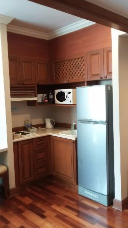 President Solitaire: Kitchenette with fridge and Hobb