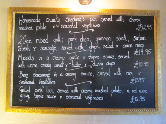 Sturminster Newton, UK: One of Two specials boards