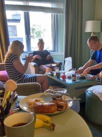 Hotel Beacon: goede voorzieningen op de kamer om zelf ontbijt te maken
