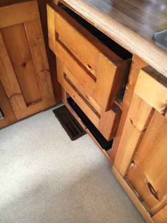 Salvo, NC: Unable to open kitchen drawer