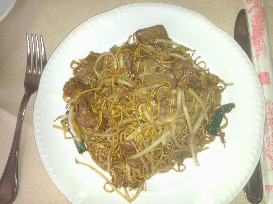 Eaglesham, UK: Beef Chow Mein (sorry, not the best photo I've ever taken)