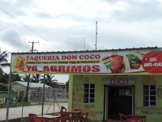 Orange Walk, Belize: Front of Taqueria