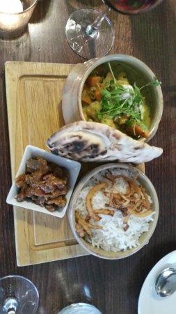 Porthleven, UK: Curry and chutney Yummmmm