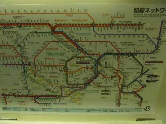 Kanto (bölge), Japonya: ドア上路線図