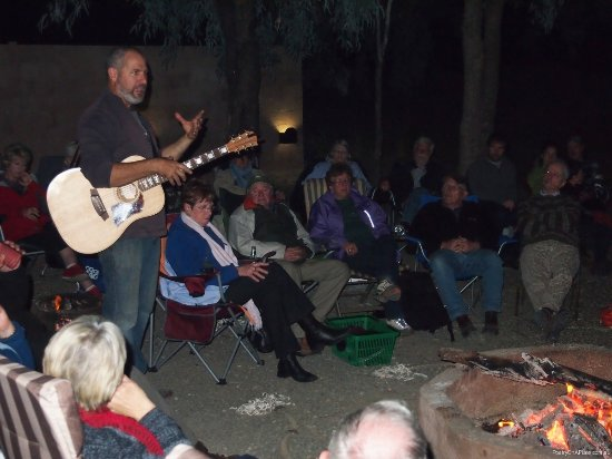 Bourke, Australia: Poetry on a Plate around the campfire