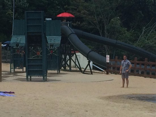 Lake Lure, NC: Water slide