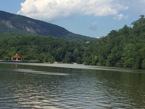 Lake Lure, NC: View from the lake