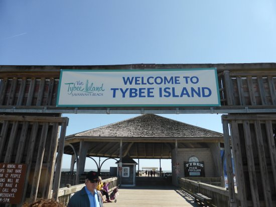 Private to beach parking lot pier and beach picture of for Tybee island fishing report