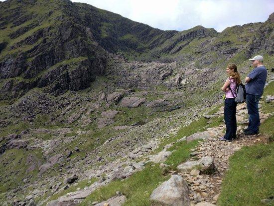 Mount Brandon: The rocky valley vista