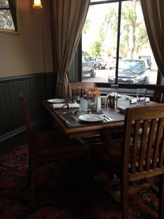 Fort Benton, Montana: Corner dining table