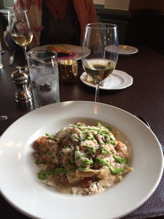 Fort Benton, MT: Shrimp and Crab pasta special