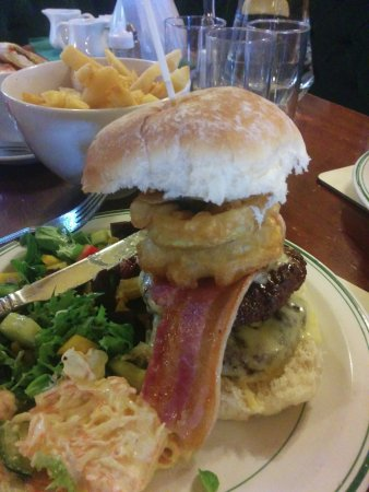 "Llanymynech, UK: The ""Bradford Blaster"" burger."