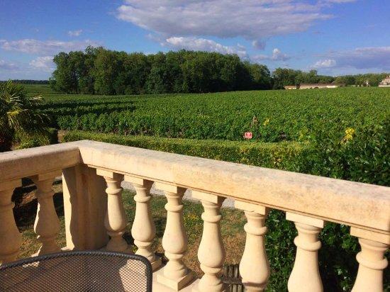 Margaux, Fransa: Terrasse sur laquelle nous avons eu le bonheur de déguster les vins que produise les propriétair