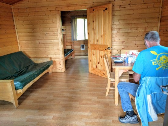 Buxton, OR: inside a cabin