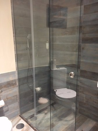 Villas D. Dinis: Bathroom with rainshower