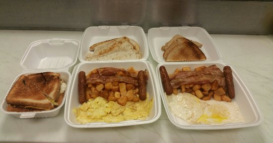 Nisku, Canada: Breakfast specials to go