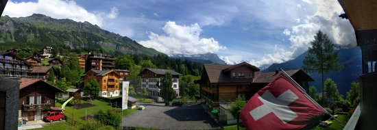 Hotel Edelweiss: view from my room 205