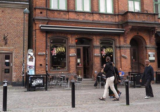 Lund, Suecia: Vy från gågatan